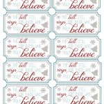 Polar Express Bell Tags | Party Like A Cherry | Polar Express   Polar Express Free Printables