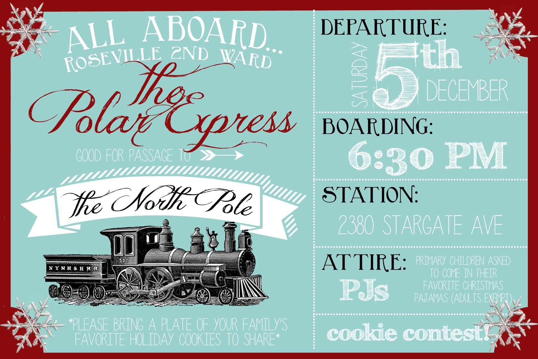 Polar Express Party- The Whole Shibang! - Party Like A Cherry - Polar Express Free Printables