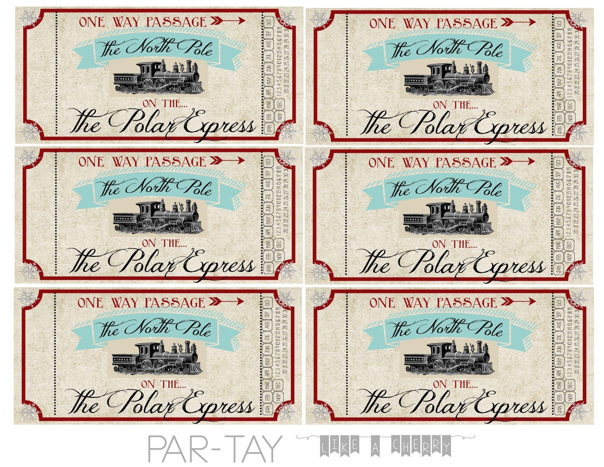 Polar Express Train Tickets Free Printable | School Stuff | Polar - Polar Express Free Printables