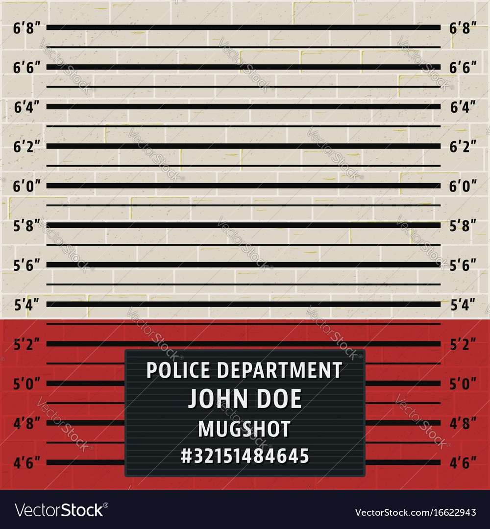 Police Mugshot Template Royalty Free Vector Image - Printable Mugshot Sign Free