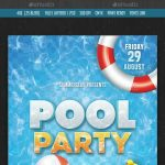 Pool Party Flyer | Design Inspiration | Party Flyer, Pool Party   Pool Party Flyers Free Printable