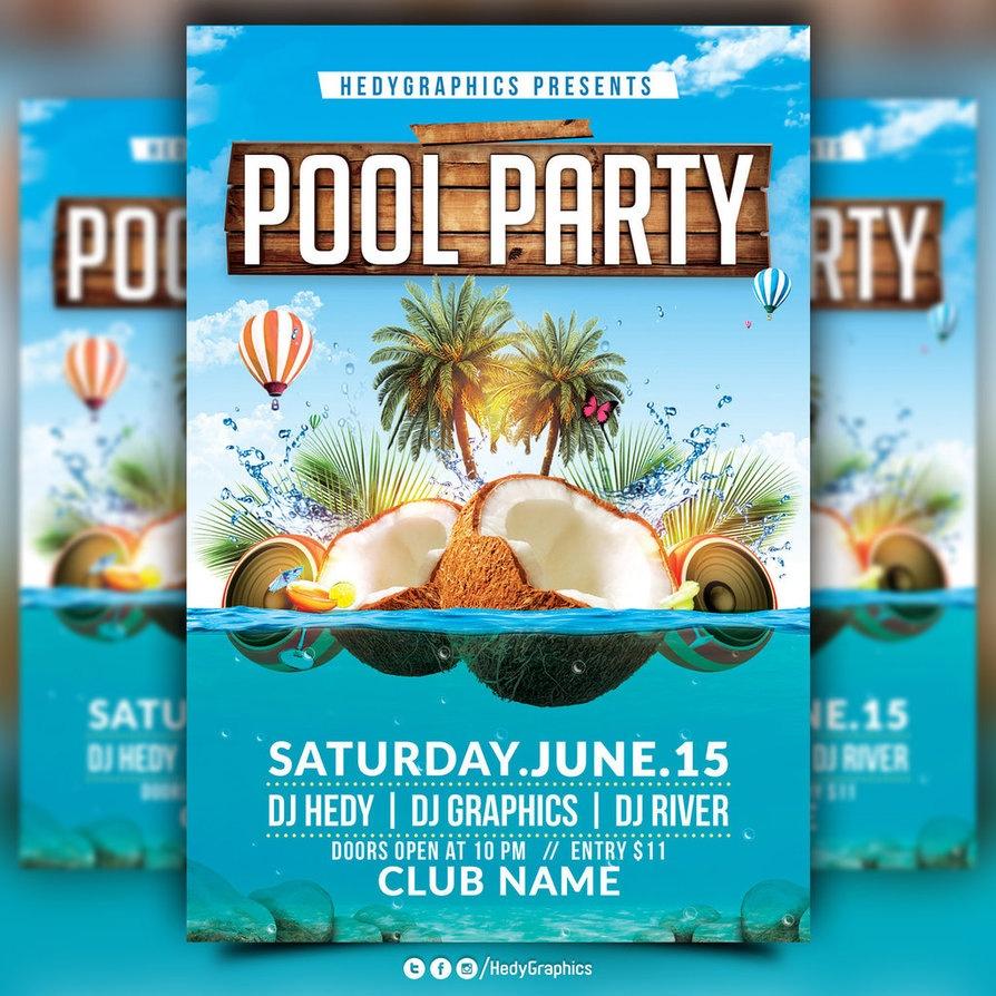 Pool Party Flyer - Kaza.psstech.co - Pool Party Flyers Free Printable