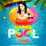 Pool Party Flyer Psd Template | Psddaddy   Pool Party Flyers Free Printable