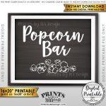 Popcorn Bar Sign, Popcorn Sign, Treat, Graduation Party Birthday   Popcorn Bar Free Printables
