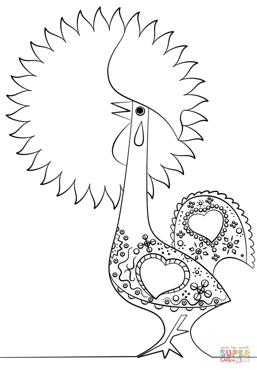 Portuguese Rooster Coloring Page | Free Printable Coloring Pages - Free Printable Portuguese Worksheets