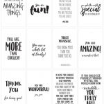 Positive Affirmations {Print And Share With Friends} | Skip To My Lou   Free Printable Positive Affirmation Cards