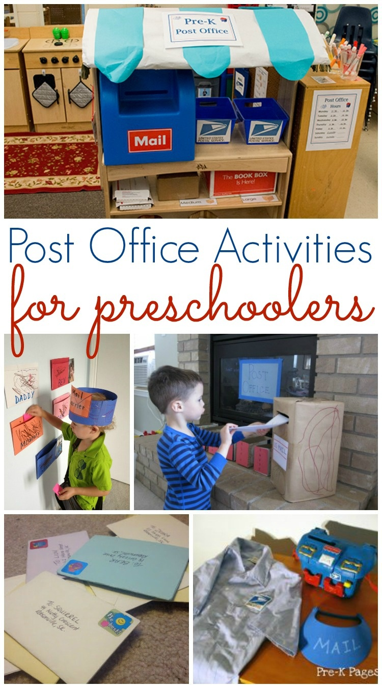 Post Office And Mailing Activities For Preschool - Pre-K Pages - Post Office Dramatic Play Free Printables
