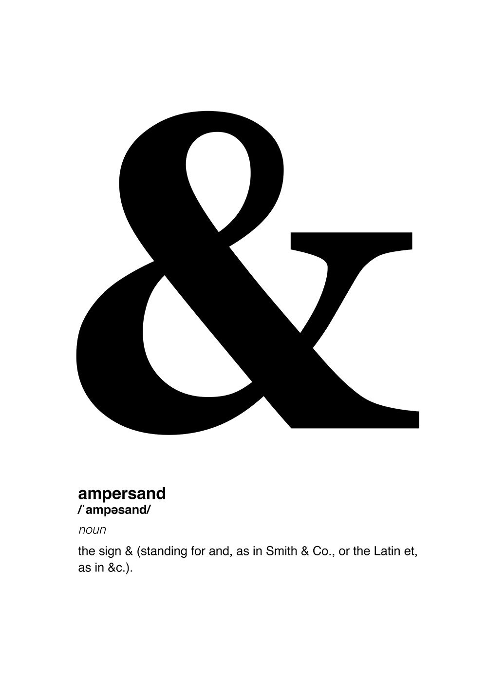 Poster - Definition Of &, Ampersand | Printable Posters | Poster - Free Printable Ampersand Symbol