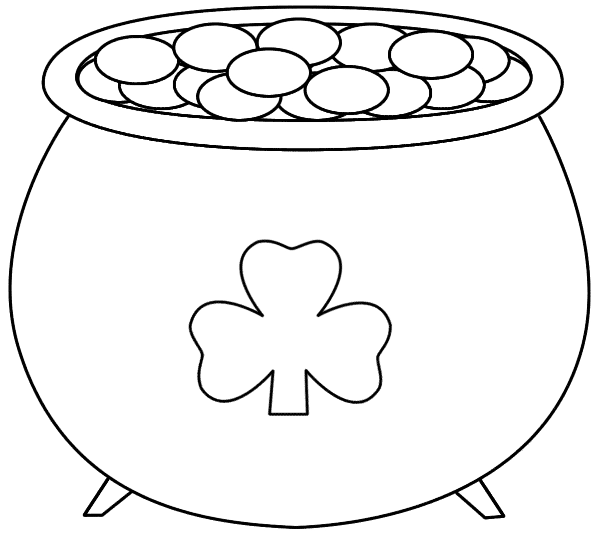 Pot+Of+Gold+Printable   Pot Of Gold - Coloring Pages   Saint - Pot Of Gold Template Free Printable