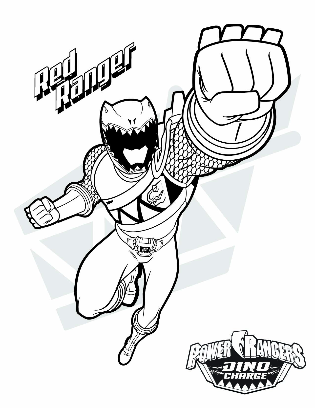 Power Rangers Dino Charge Gold Ranger Coloring Pages Free - Free Power Ranger Printables