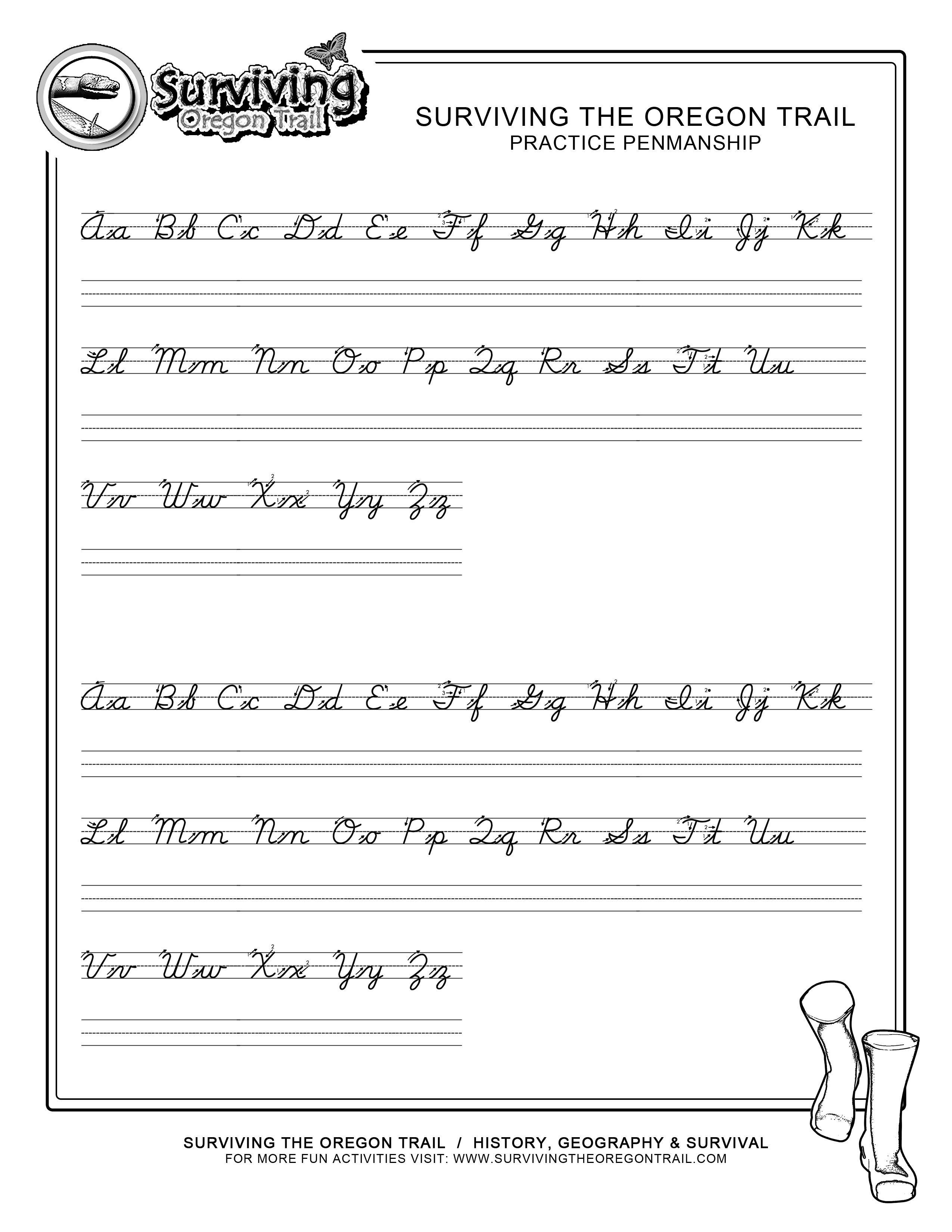 Practice Penmanship – Free Abc's Printable Cursive Writing Worksheet - Free Printable Writing Pages