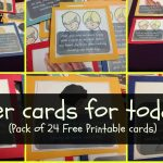 Prayer Cards For Toddlers & Preschoolers (W Free Printable Pack   Free Printable Prayer Cards For Children
