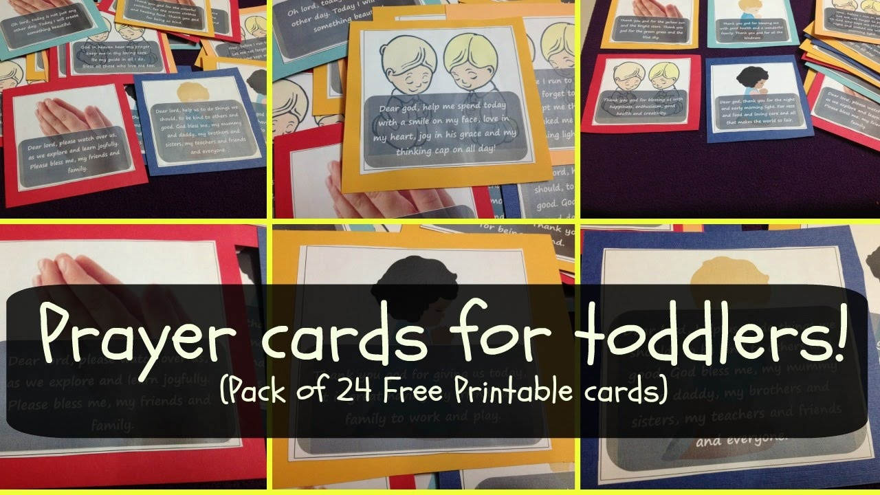 Prayer Cards For Toddlers & Preschoolers (W Free Printable Pack - Free Printable Prayer Cards For Children