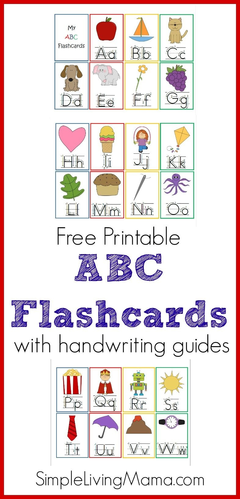 Preschool Abc Flashcards - Homeschool Printables For Free - Abc Flash Cards Free Printable