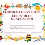Preschool Graduation Certificate Template Free | School | Graduation   Free Printable First Day Of School Certificate