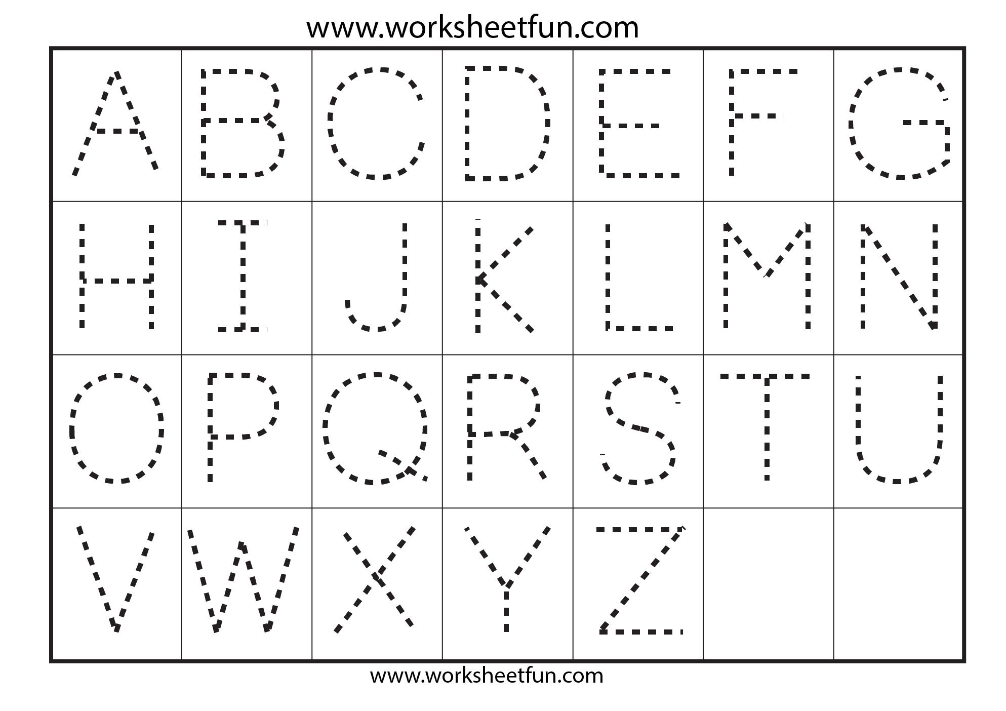 Preschool Worksheets Alphabet Tracing Letter A | Art | Alphabet - Free Printable Letter Tracing Sheets