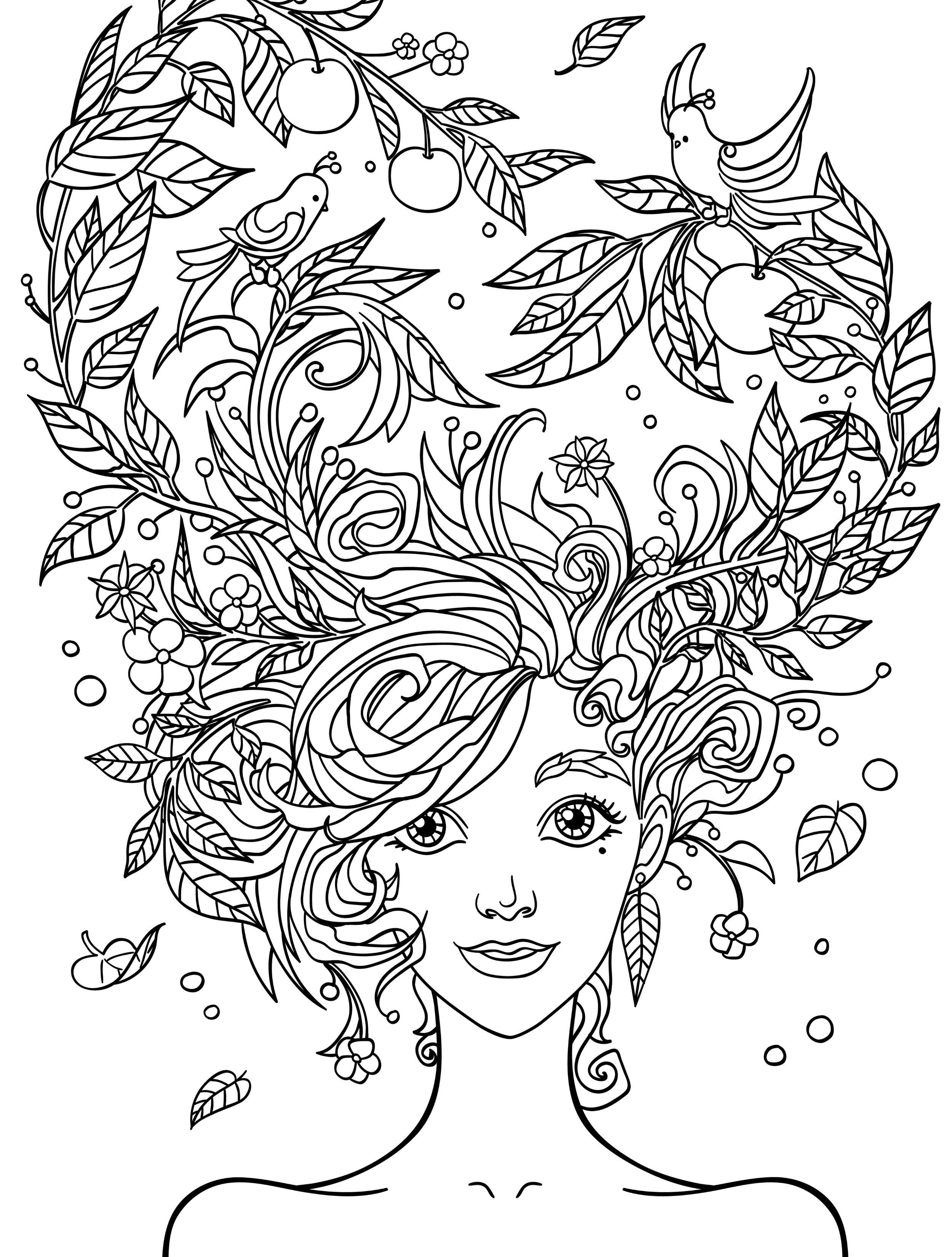 Pretty Coloring Pages For Adults Free Printable | People Coloring - Free Printable Coloring Cards For Adults