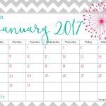 Pretty Printable Calendar 2017   Printable Calendar & Birthday Cards   Free 2017 Printable