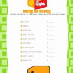 Price Is Right Ballot Free Printable Baby Shower Games | Baby   Free Printable Price Is Right Baby Shower Game