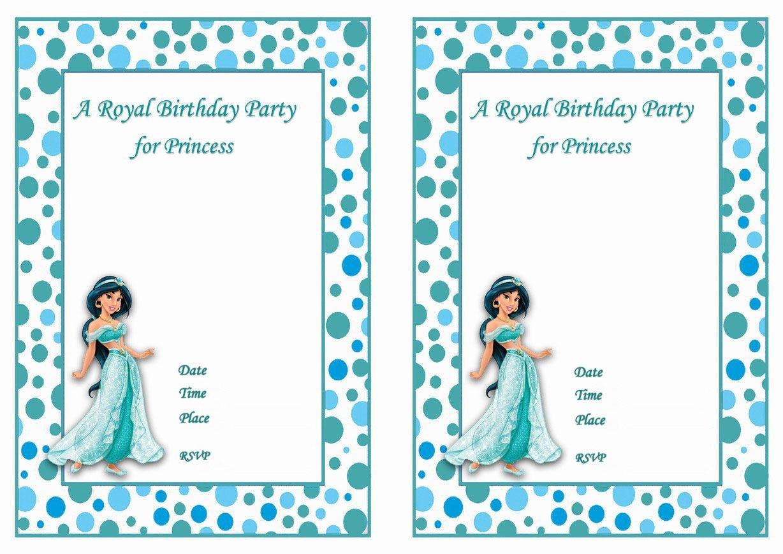 Princess Jasmine Free Printable Birthday Party Invitations - Free Printable Princess Jasmine Invitations