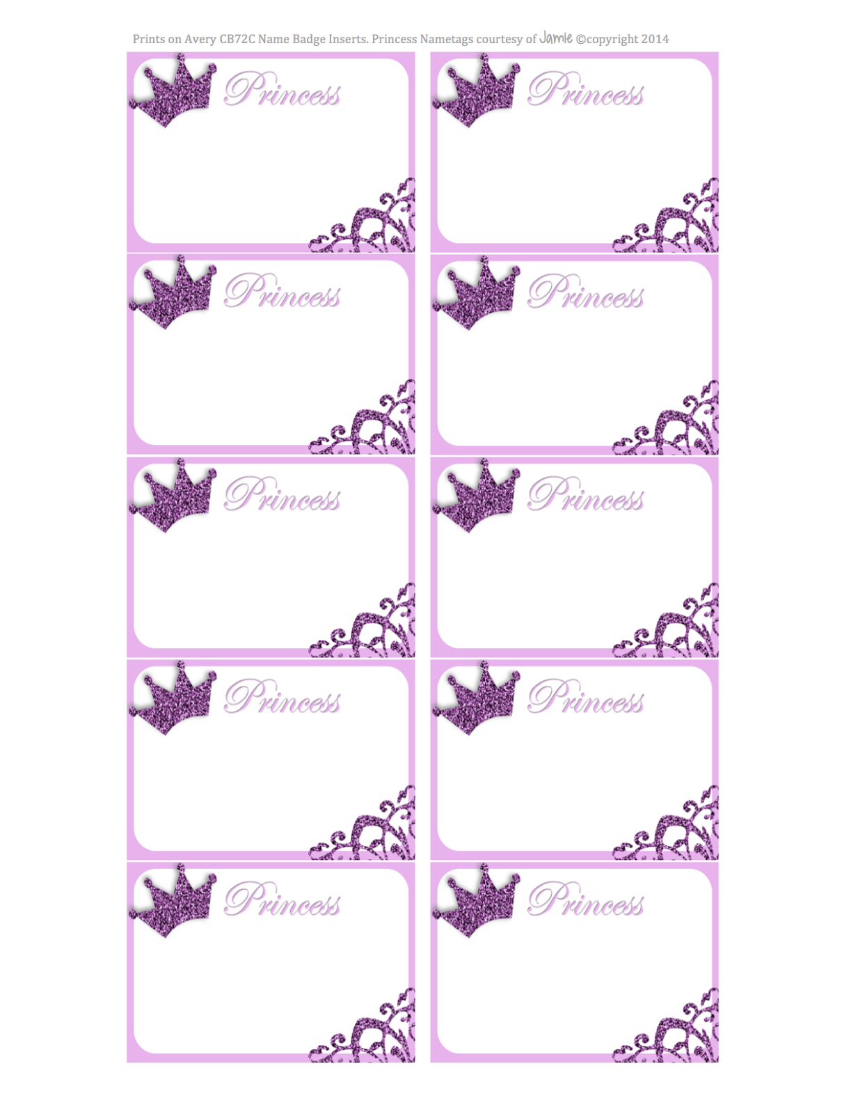 Princess Labels - Free Printable | Kids | Printable Labels - Free Printable Disney Address Labels