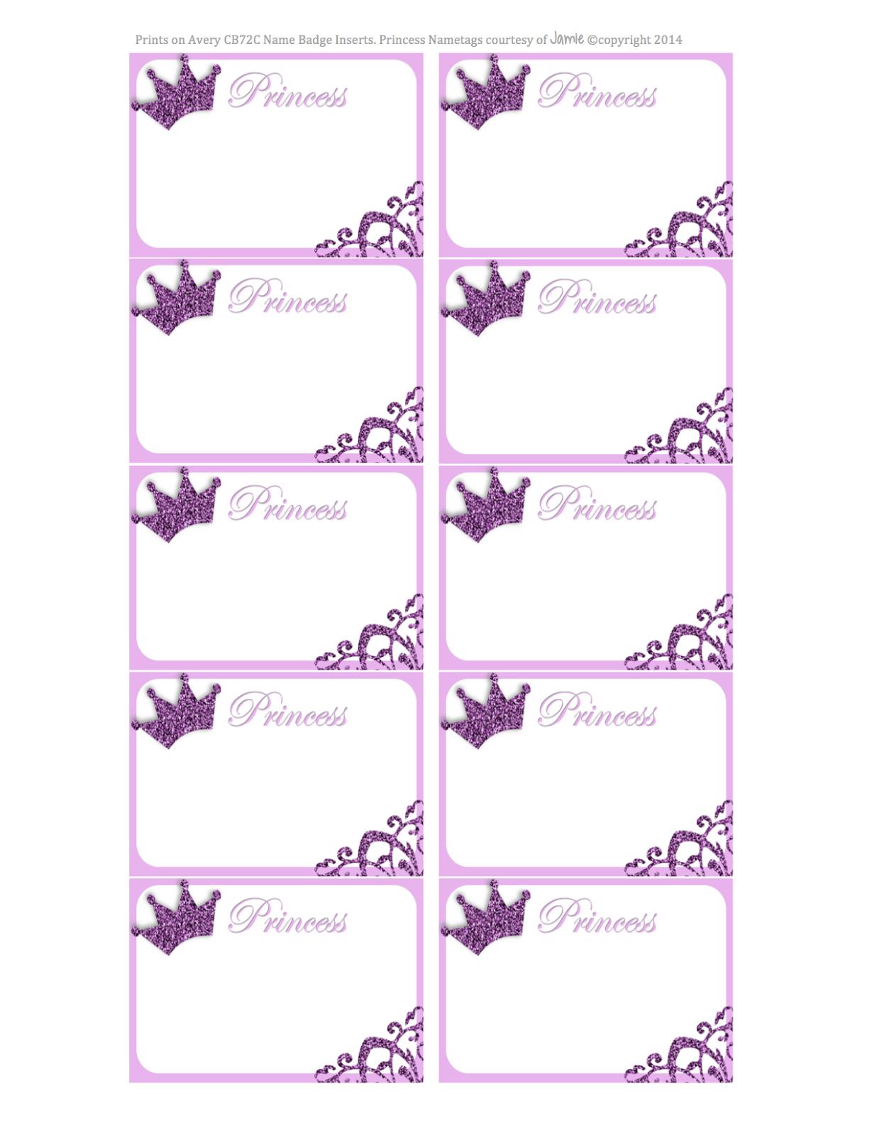 Princess Labels - Free Printable | Kids | Printable Labels - Free Printable Name Labels For Kids