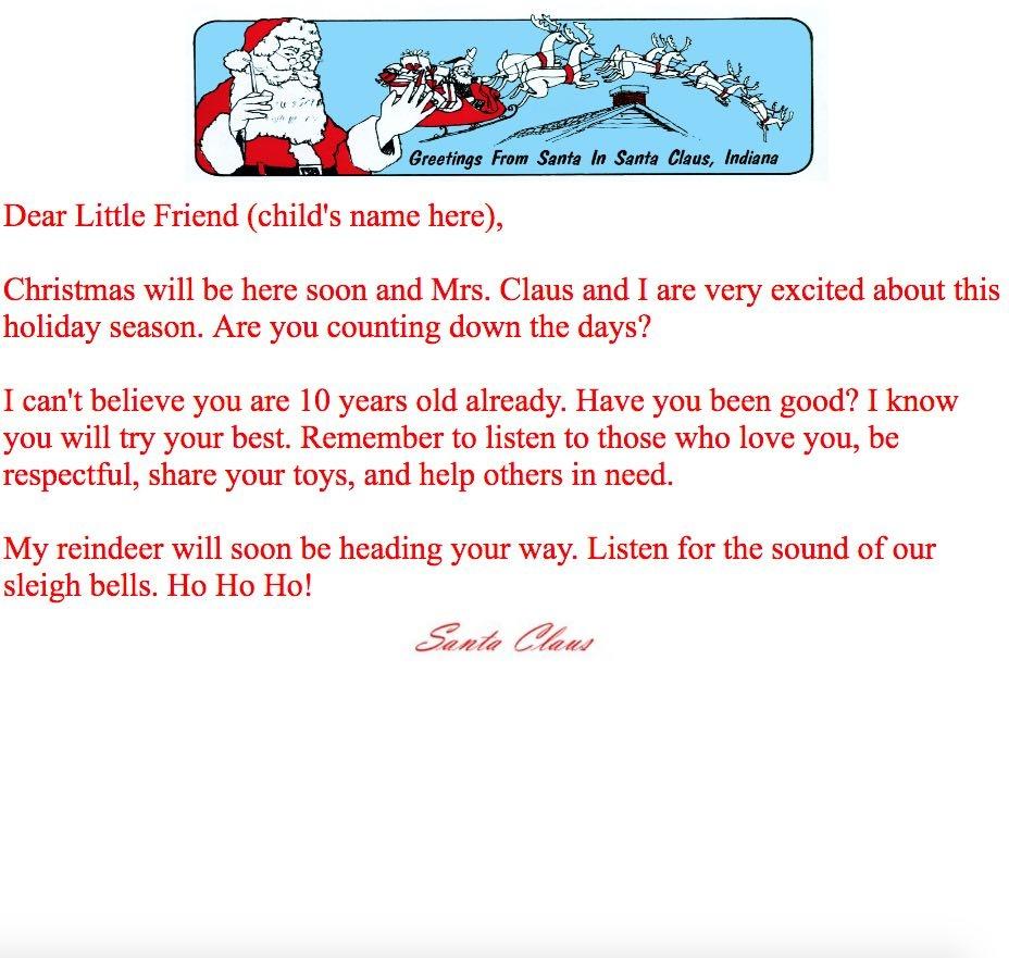 Print At Home Letters From Santa | Santa Claus Museum - Free Printable Letters From Santa Claus