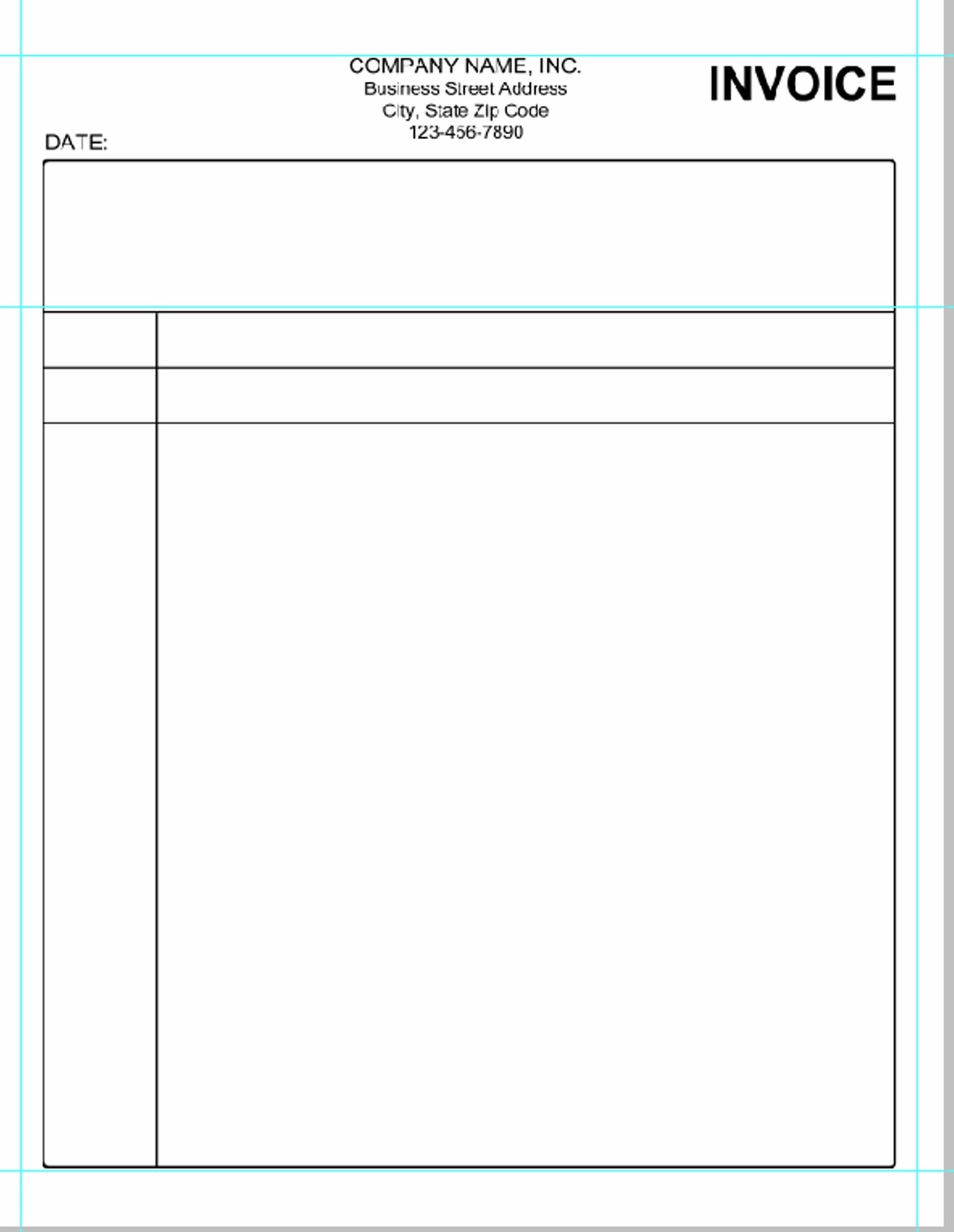 Print Blank Invoice Unique Free Printable Blank Invoice Sheet - Free Printable Blank Invoice