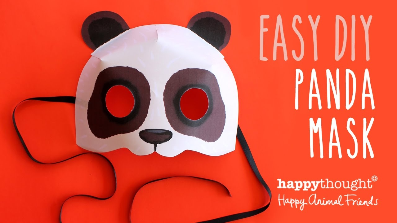Print Paper Panda Mask. Animal Mask + Diy Homemade Costume Ideas! - Free Printable Paper Masks