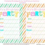 Print Party Invitations   Kaza.psstech.co   Free Printable Birthday Party Invitations