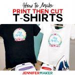 Print Then Cut Cricut Transfer T Shirts   Jennifer Maker   Free Printable Christmas Iron On Transfers