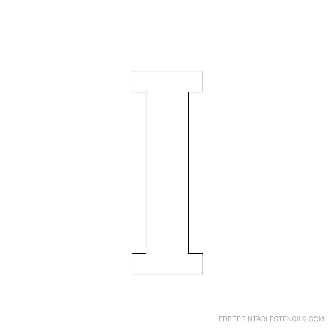 Printable 3 Inch Letter Stencil I   Projects To Try   Letter - Free Printable 3 Inch Number Stencils