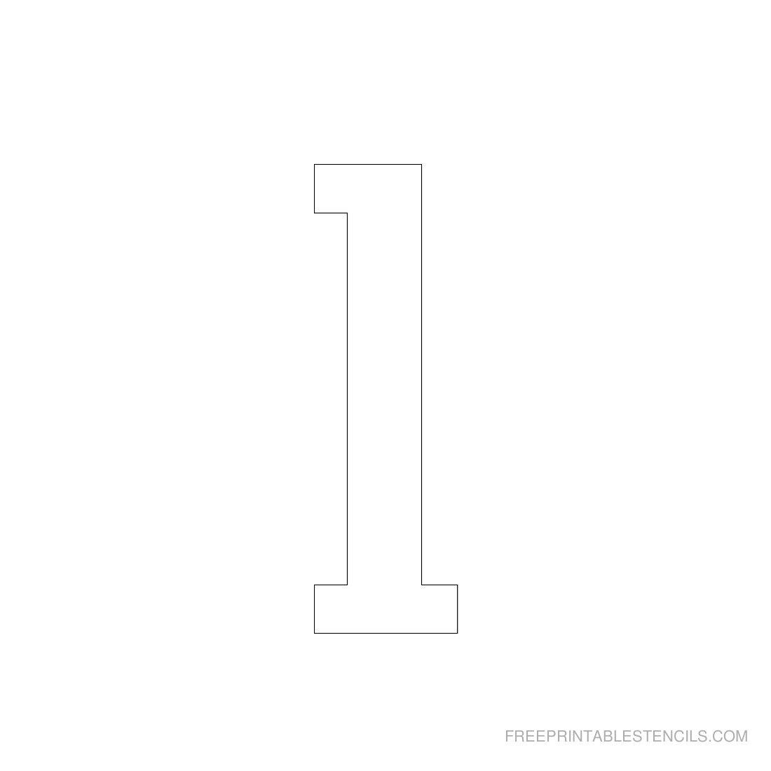 Printable 3 Inch Number Stencils 1-10 | Free Printable Stencils - Free Printable 4 Inch Number Stencils