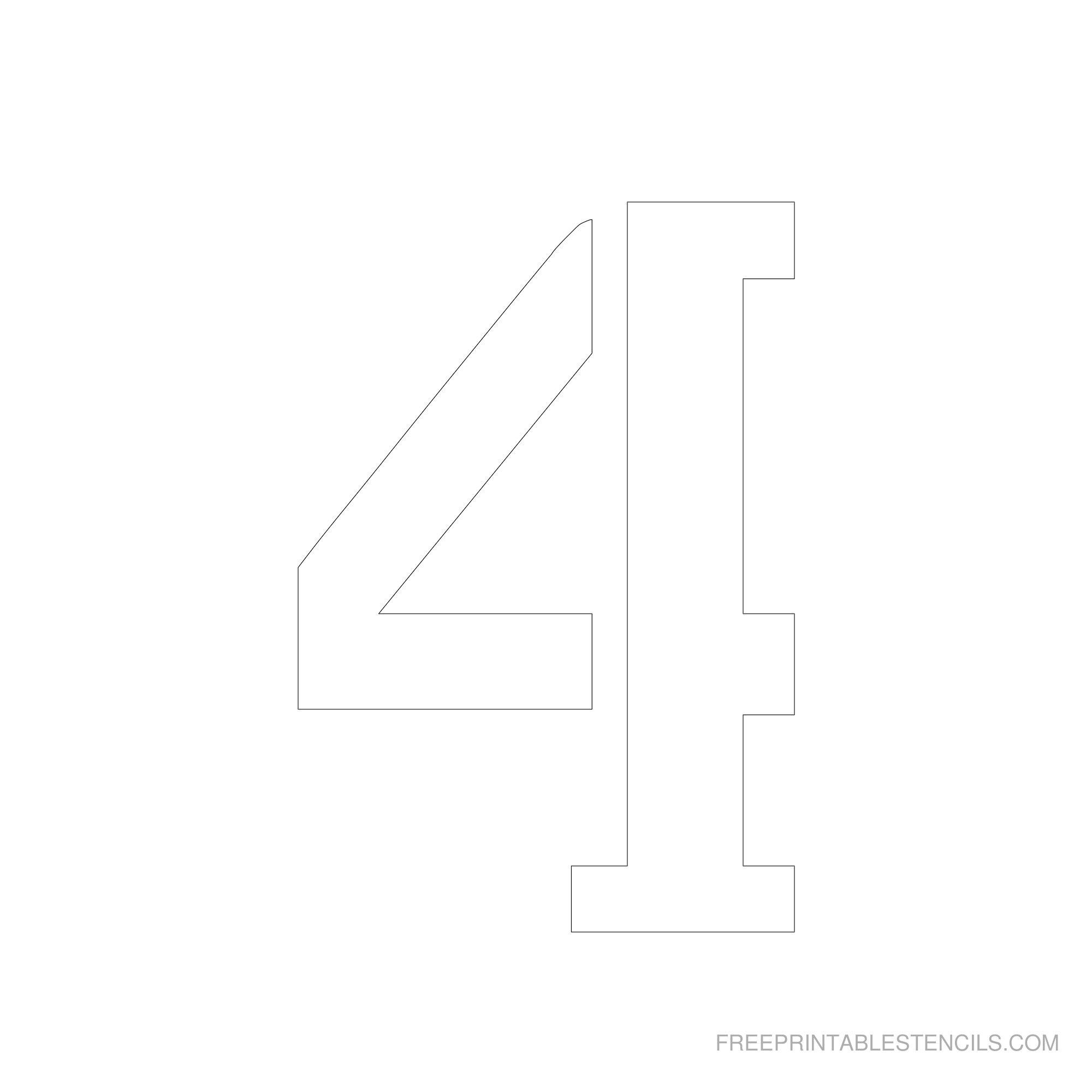 Printable 6 Inch Number Stencils 1-10   Free Printable Stencils - Free Printable 3 Inch Number Stencils