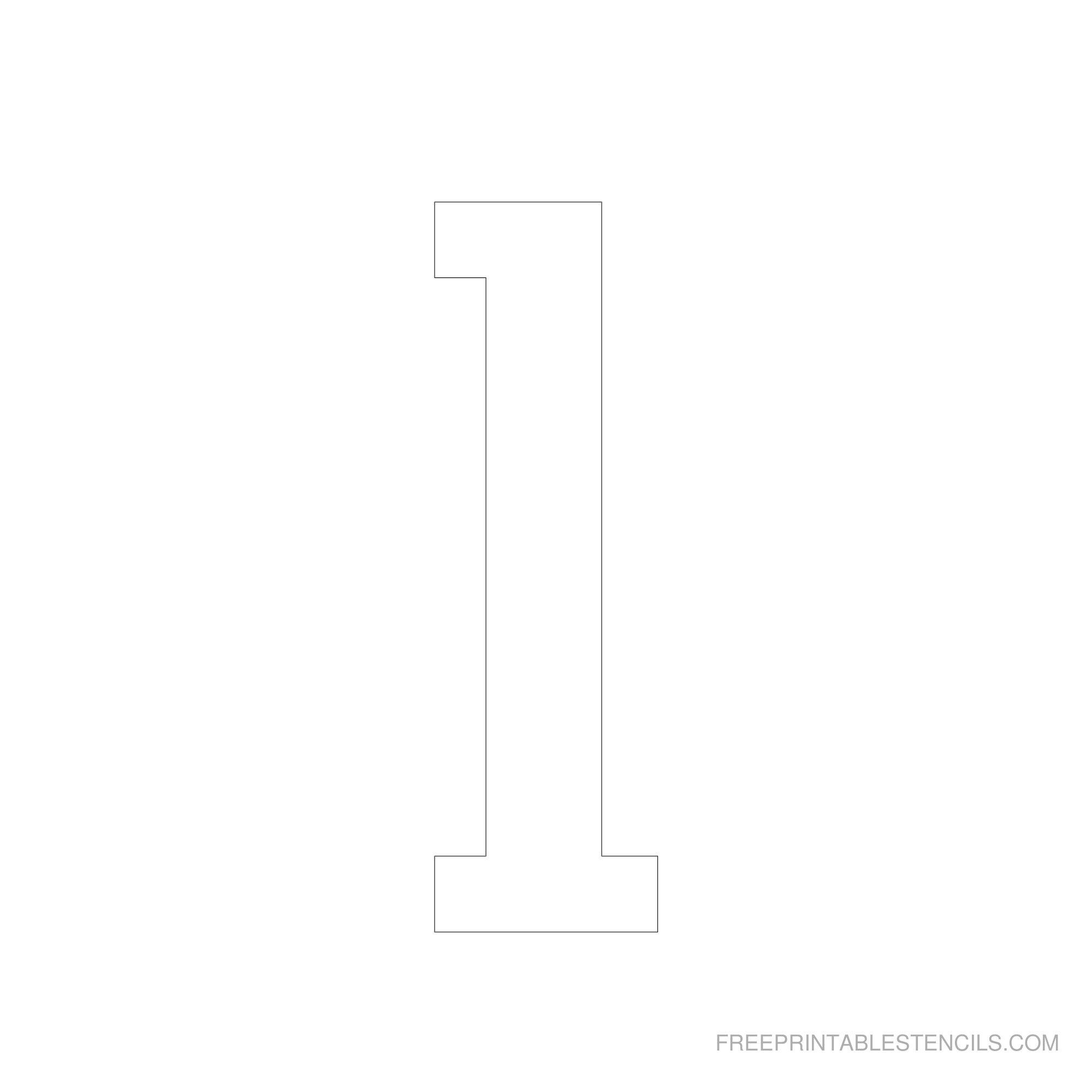 Printable 6 Inch Number Stencils 1-10 | Free Printable Stencils - One Inch Stencils Printable Free