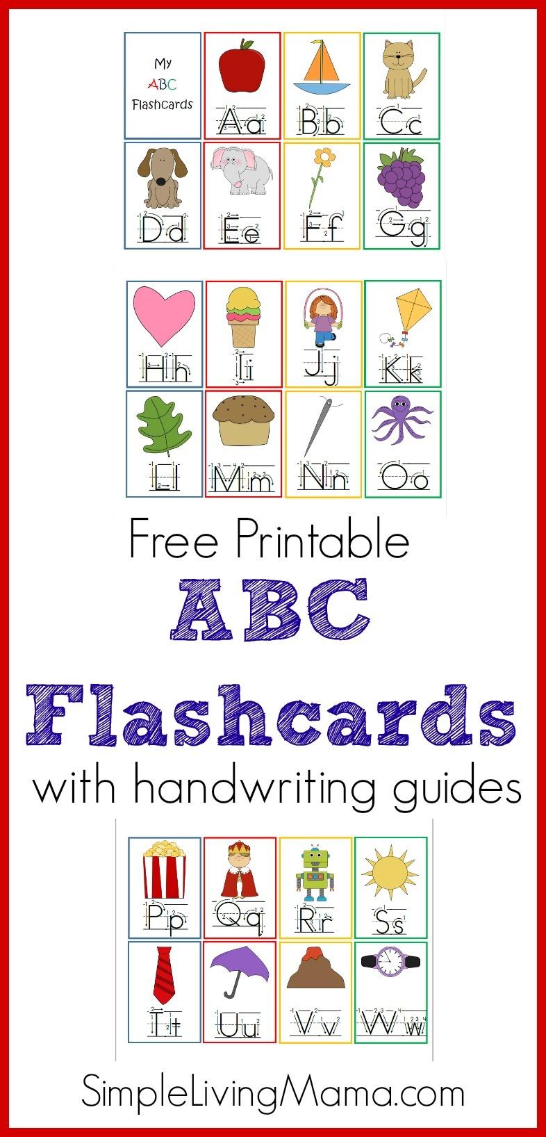 Printable Abc Flashcards - Homeschool Printables For Free - Free Printable Abc Flashcards