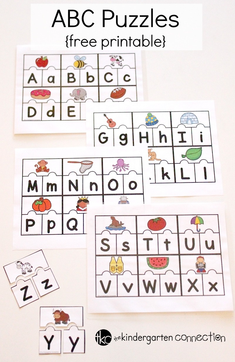 Printable Abc Puzzles For Pre-K And Kindergarten - Abc Printables Free