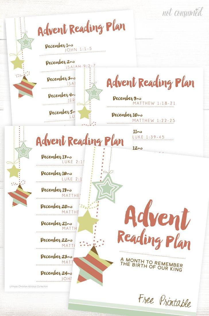 Printable Advent Reading Plan | Advent & Christmas Ideas | Advent - Free Printable Advent Devotions