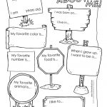Printable All About Me Poster & All About Me Template Pdf   Free Printable All About Me Poster