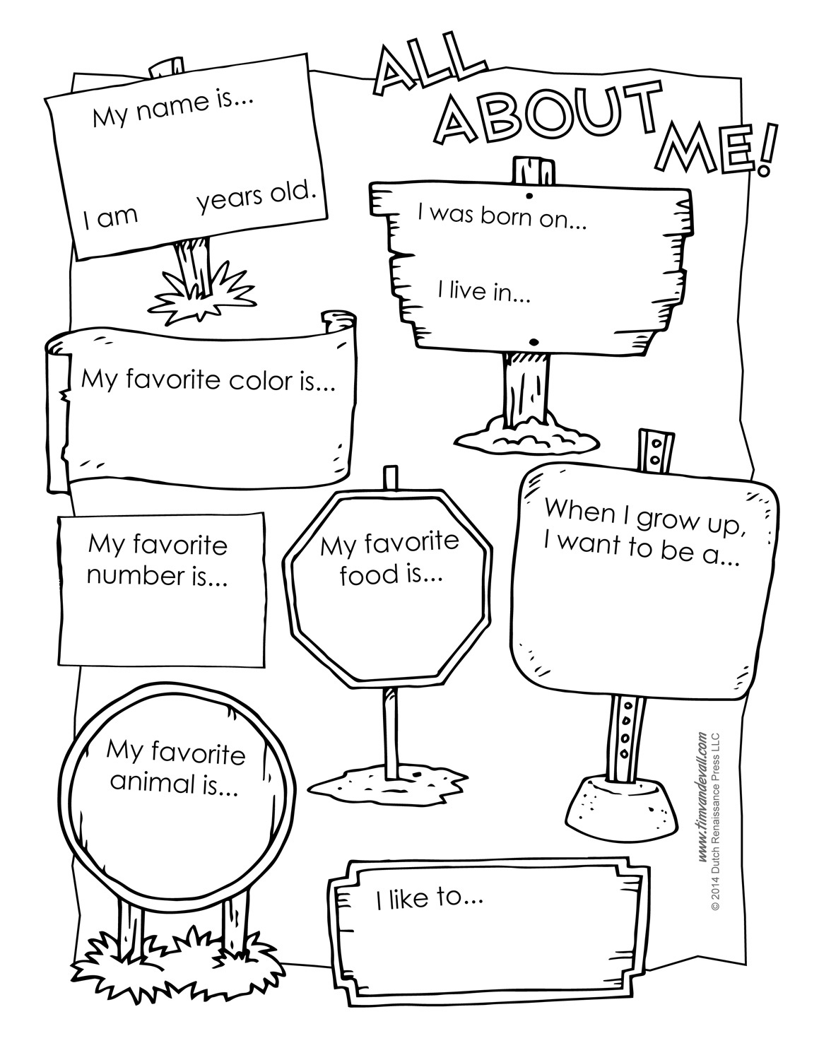Printable All About Me Poster & All About Me Template Pdf - Free Printable All About Me Poster