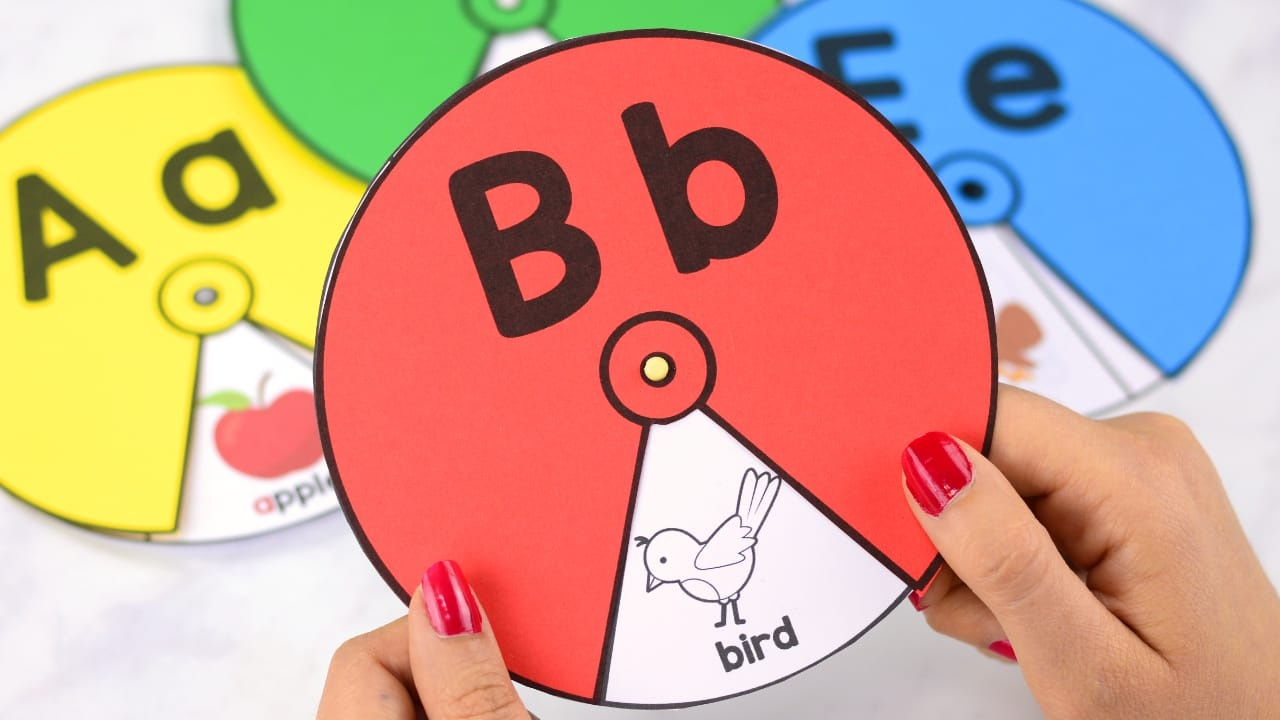 Printable Alphabet Spinners - Easy Peasy And Fun - Free Printable Alphabet Wheels