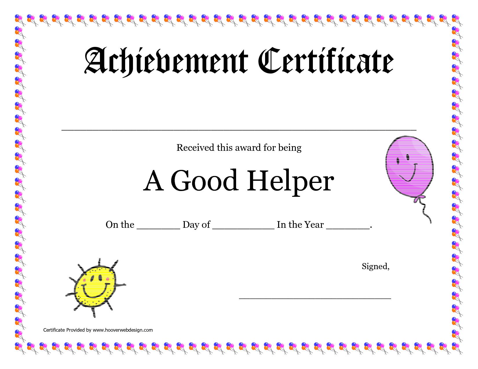 Printable Award Certificates For Teachers | Good Helper Printable - Free Printable School Achievement Certificates