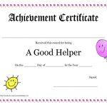 Printable Award Certificates For Teachers | Good Helper Printable   Free Printable Student Award Certificate Template