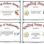 Printable Awards   Free Printable School Achievement Certificates