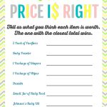 Printable Baby Shower Games | Baby Shower | Baby Shower Printables   Free Printable Price Is Right Baby Shower Game