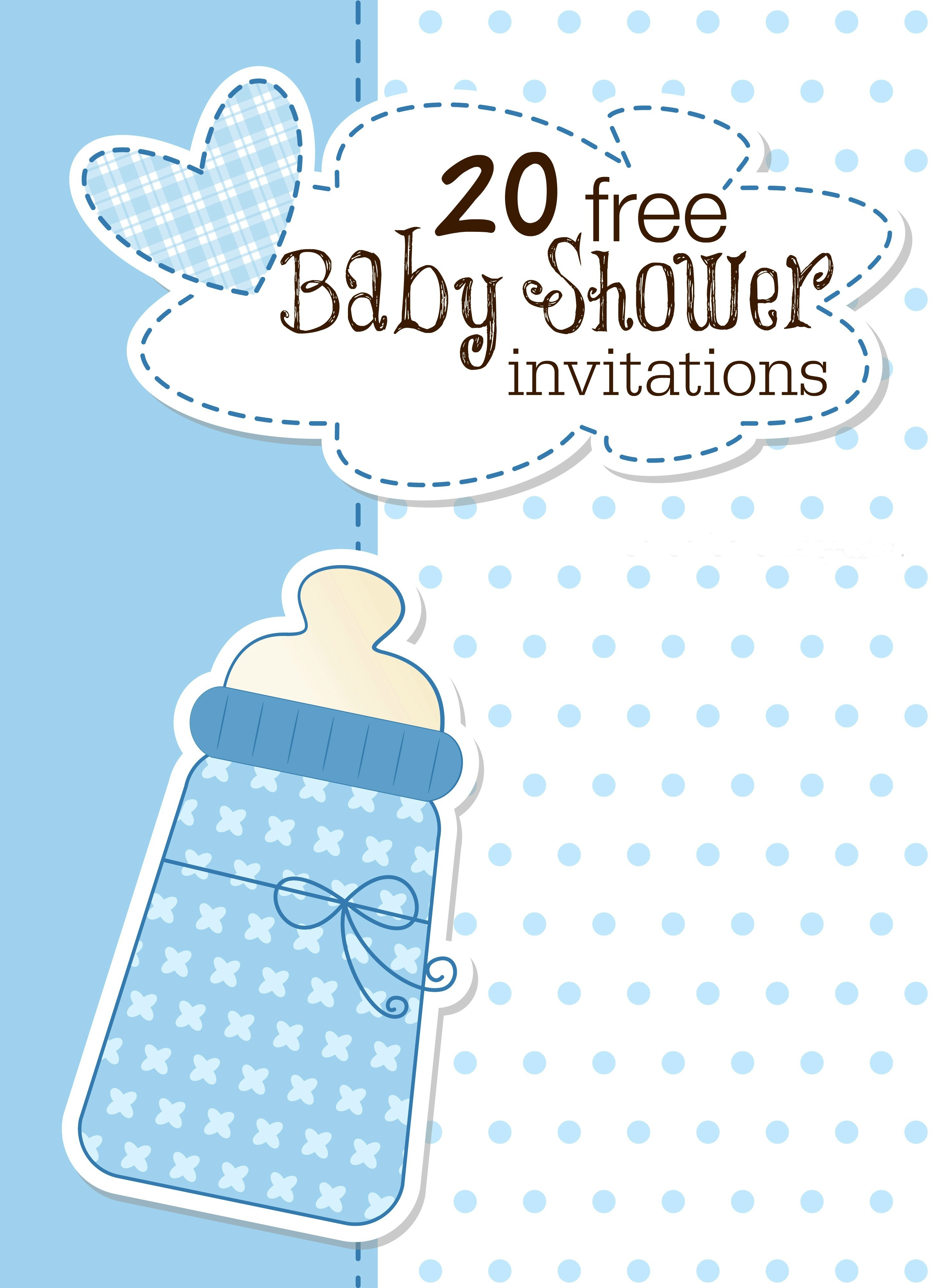 Printable Baby Shower Invitations - Baby Shower Invitations Free Printable For A Boy