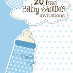 Printable Baby Shower Invitations   Free Printable Baby Sprinkle Invitations
