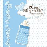 Printable Baby Shower Invitations   Free Printable Book Themed Baby Shower Invitations