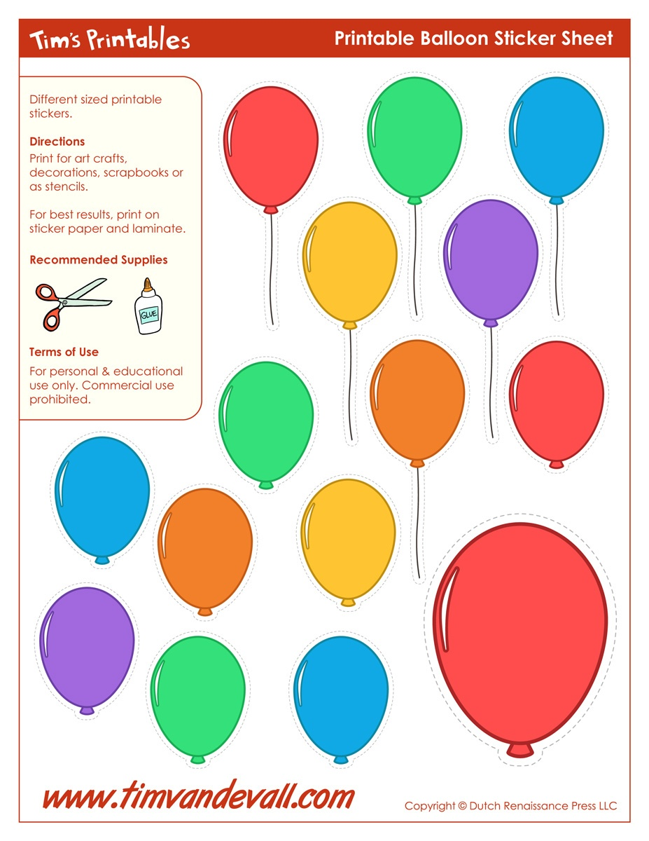 Printable Balloon Template | Birthday Printables - Free Printable Pictures Of Balloons