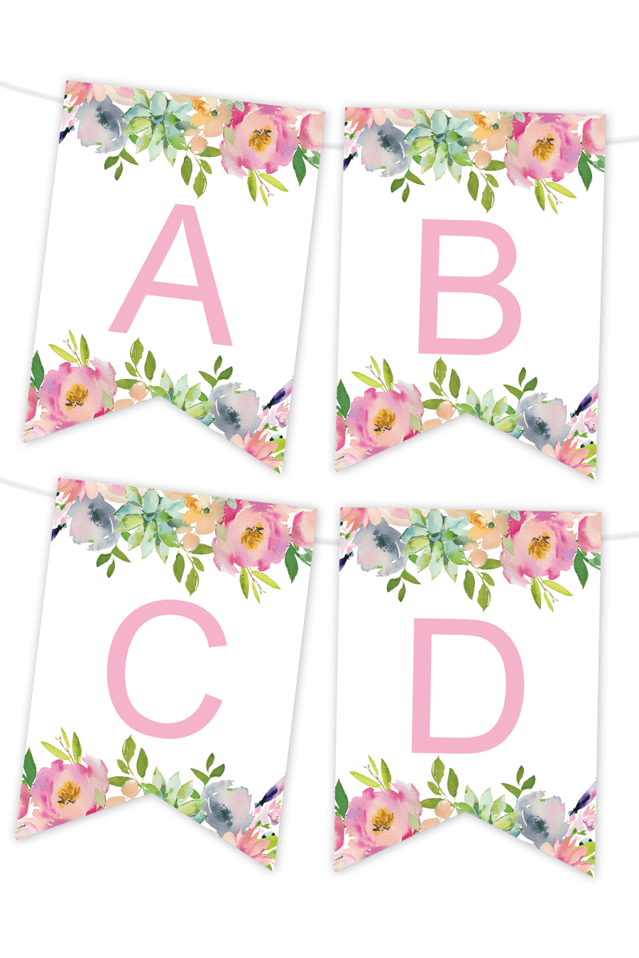 Printable Banners - Make Your Own Banners With Our Printable Templates - Free Printable Pink Banner